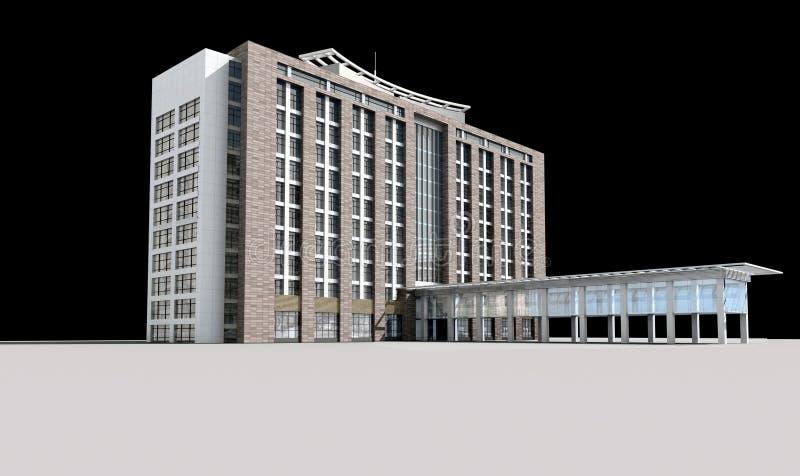 3d Architektur stock abbildung