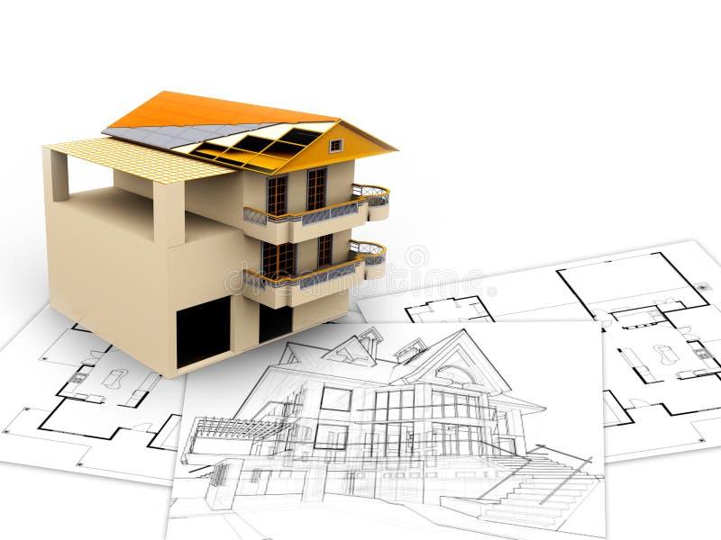 3d architektury pojęcia wizerunek ilustracja wektor