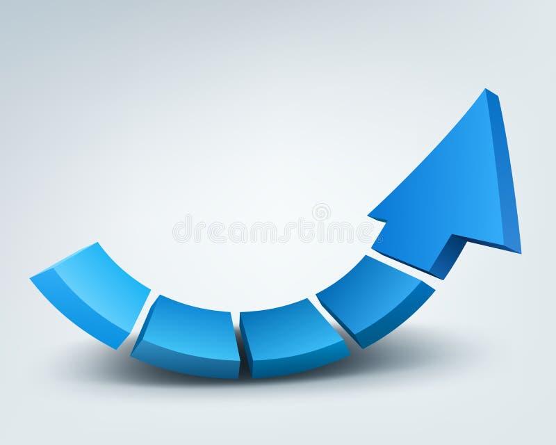 3d arrow stock illustration