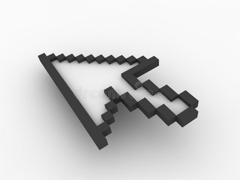 3d arrow cursor stock illustration