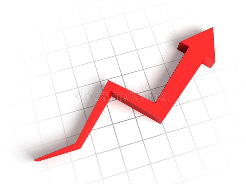 Download 3d arrow graph stock illustration. Image of advance, earning - 20382629