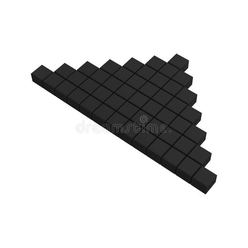 Download 3d arrow pixel icon stock illustration. Image of main - 20382949