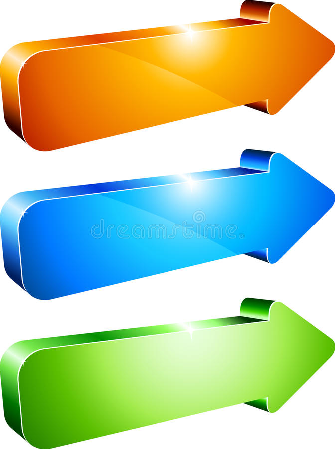 3d arrows. stock illustration