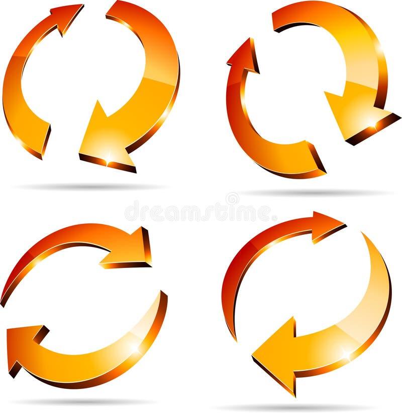 3d arrows. Set of arrows. 3D version