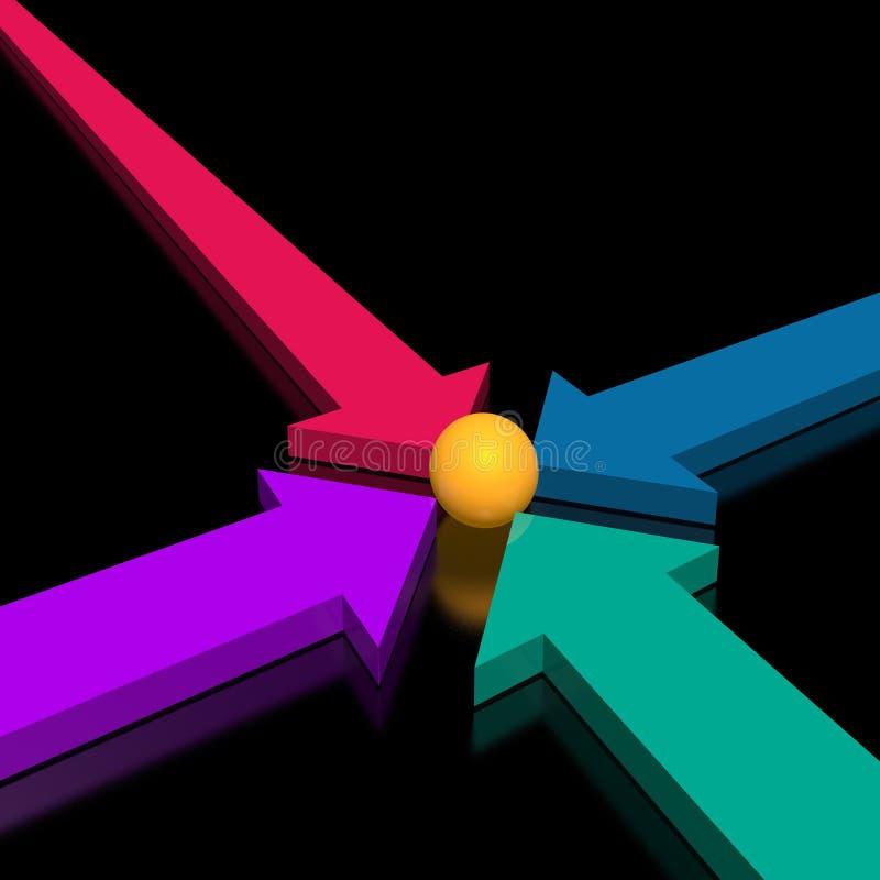 3d arrows vector illustration