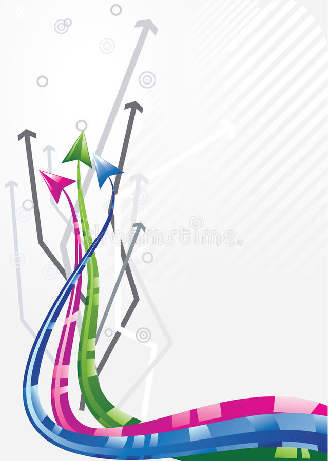 3D Arrows background. For business artworks vector illustration