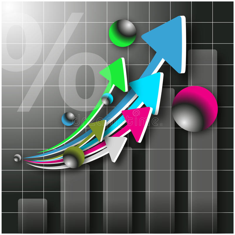 3d arrows and graph royalty free stock photos