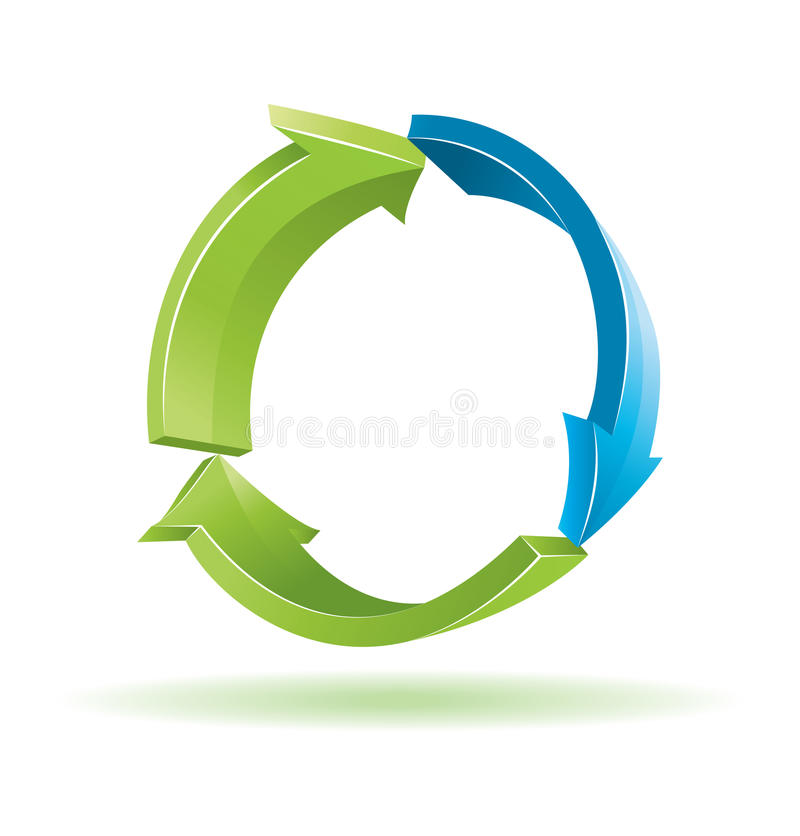 3d Arrows Recycling Sign Royalty Free Stock Photo