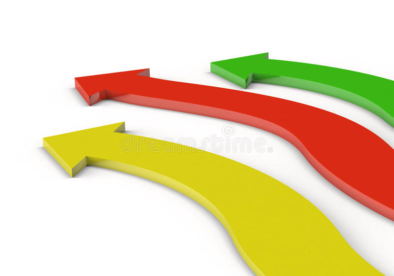 Download 3d Arrows In Three Directions Royalty Free Stock Images - Image: 15622369
