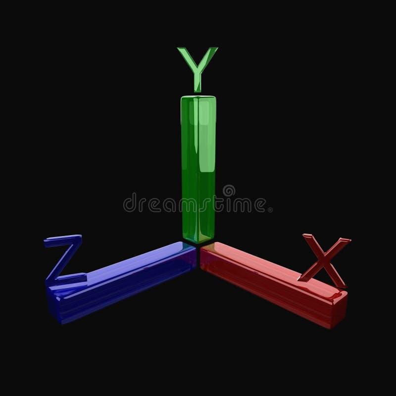 3d as vector illustratie