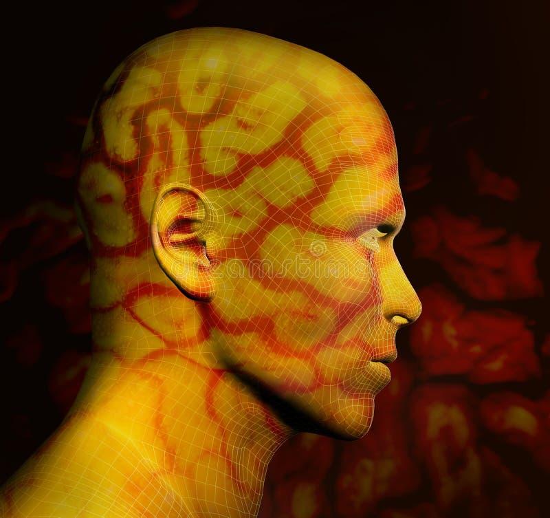 3D astratti lo rendono dell'essere umano illustrazione di stock