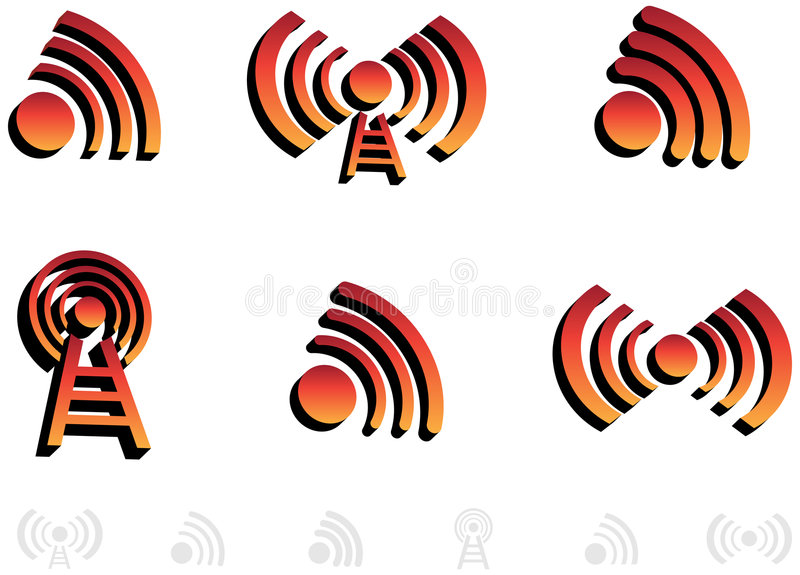 Download 3D Audio Icons stock vector. Image of broadcast, icons - 9298996