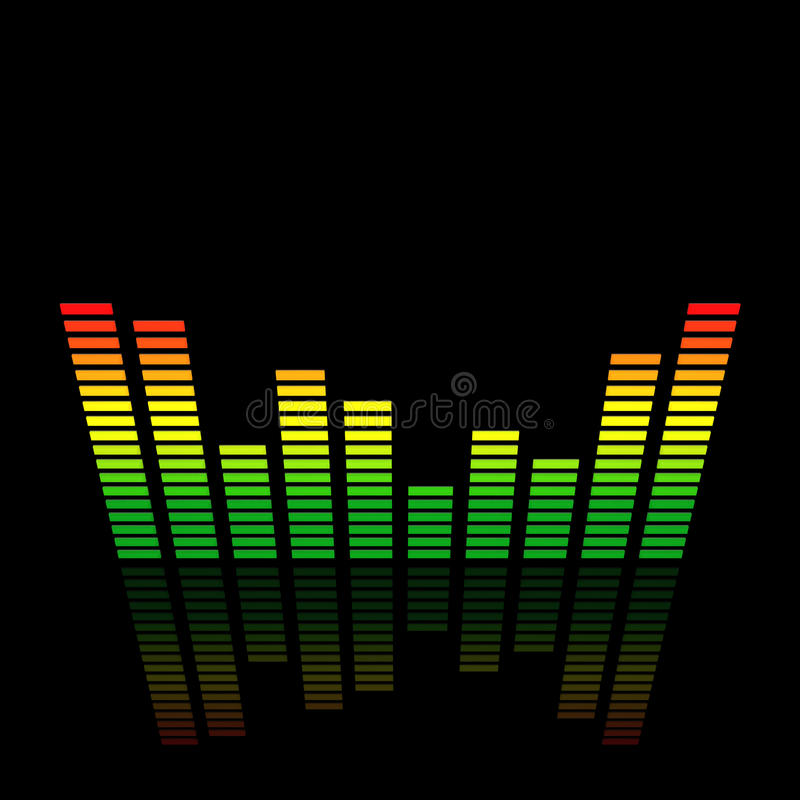 3D Audio Led Level Meter Royalty Free Stock Photos