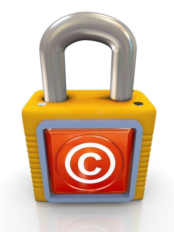 3d auteursrechthangslot royalty-vrije illustratie