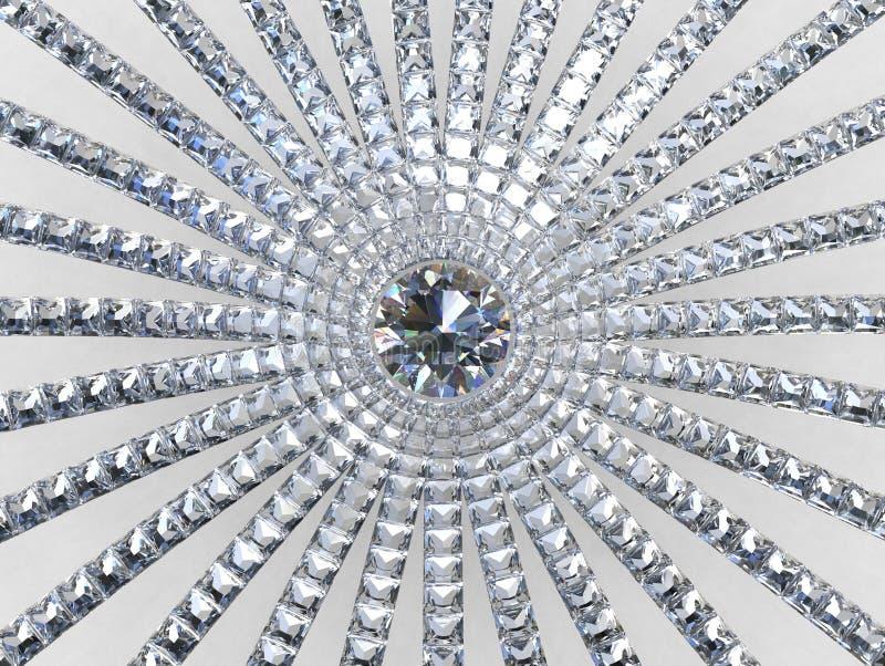 3D aztekischer Auszug - Diamanten Blüte und Brise lizenzfreies stockbild