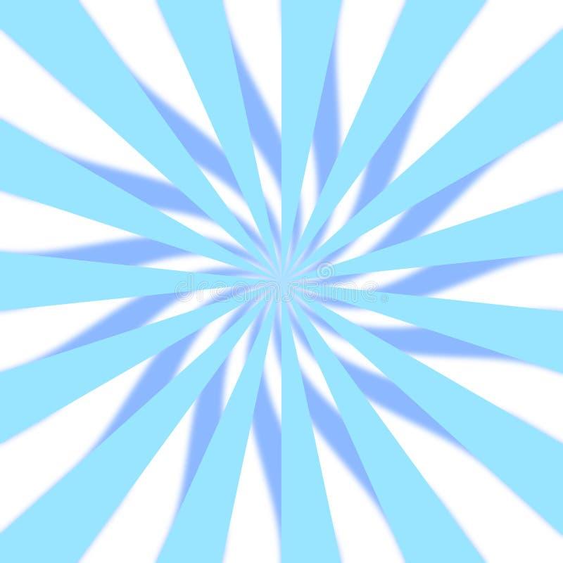 3D azul Starburst foto de stock