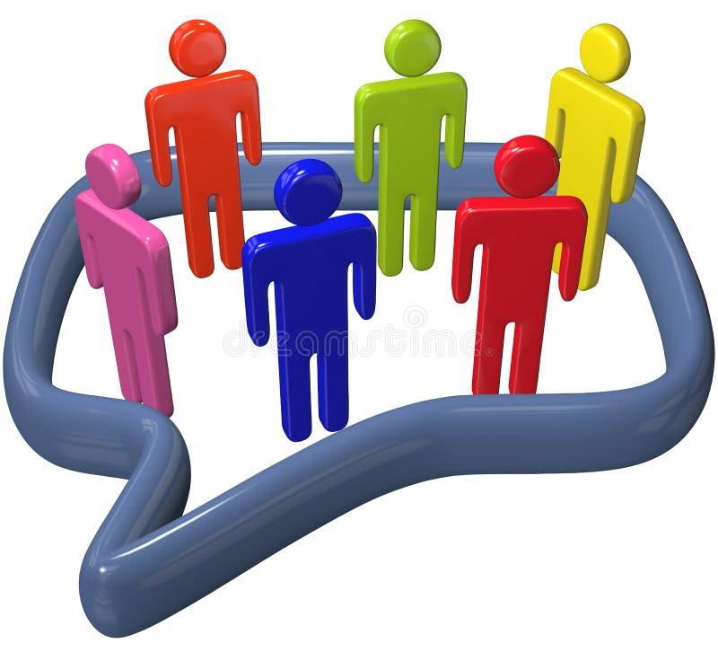 3d bąbla rozmowy środków ludzie ogólnospołecznej mowy rozmowy ilustracja wektor
