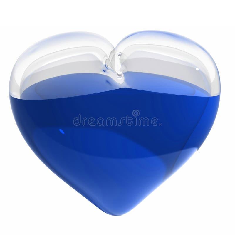 3d błękitny szklany kierowy liquide odpłaca się royalty ilustracja