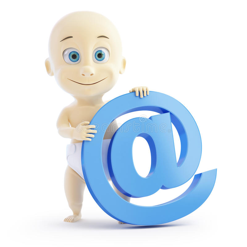 Download 3d baby e mail sign stock illustration. Illustration of innocent - 29161393
