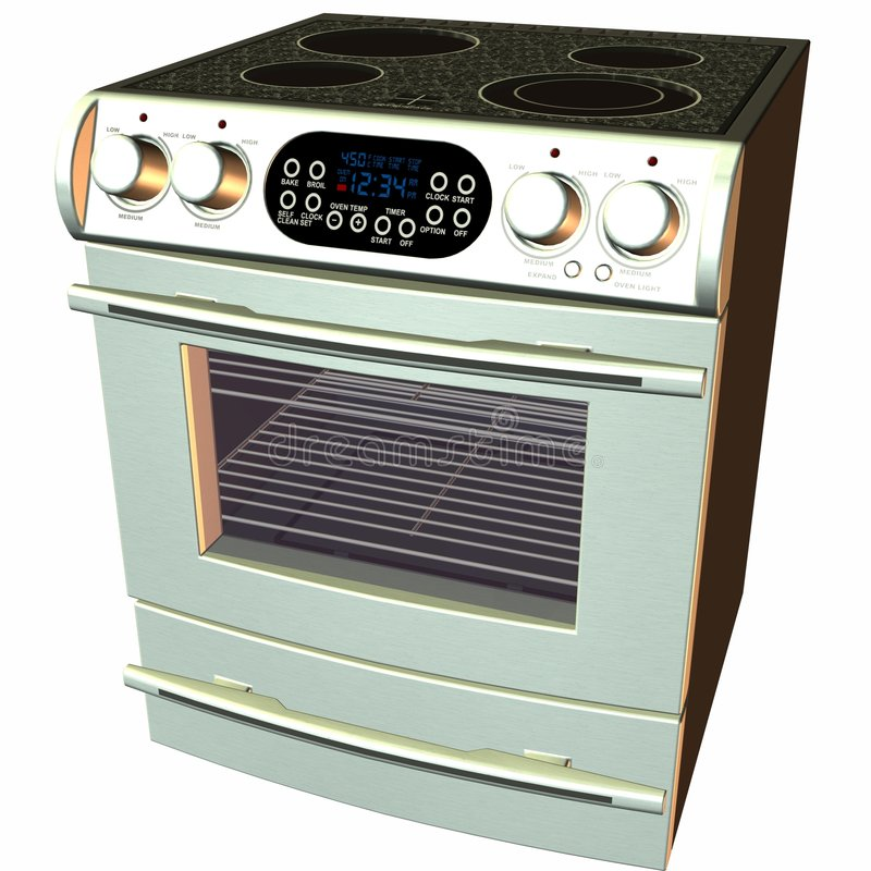 3D baksel-Oven en Fornuis