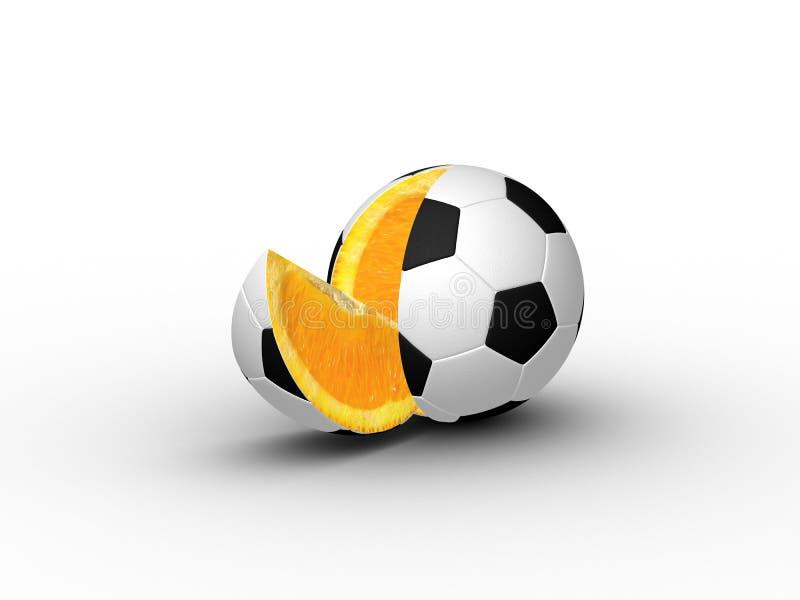 3D bal van de Plak (Footborange) stock illustratie
