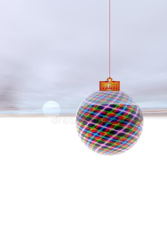 3D Bal van Kerstmis royalty-vrije illustratie