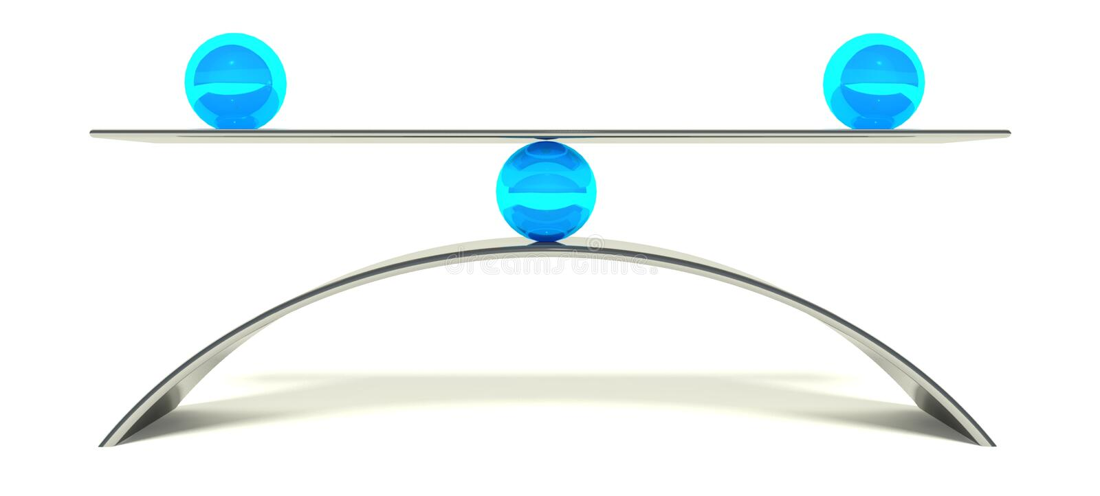 3d ball balance, concept of equilibrium royalty free illustration