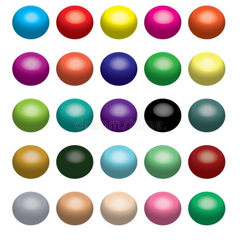 3d ballen vector illustratie