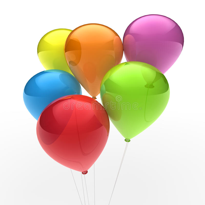 3d Ballon Colorful Stock Photo