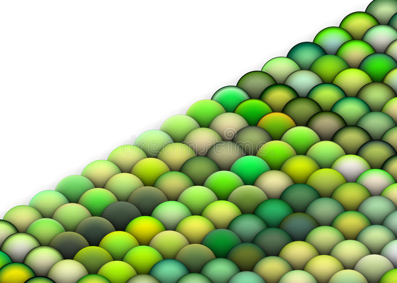 3d Balls In Multiple Bright Green Stock Photo
