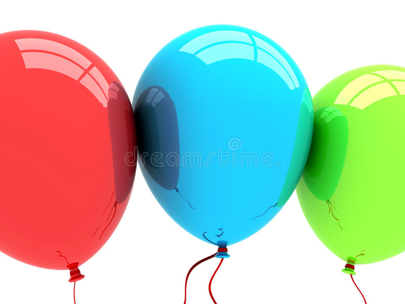 3d balonów przyjęcie ilustracji