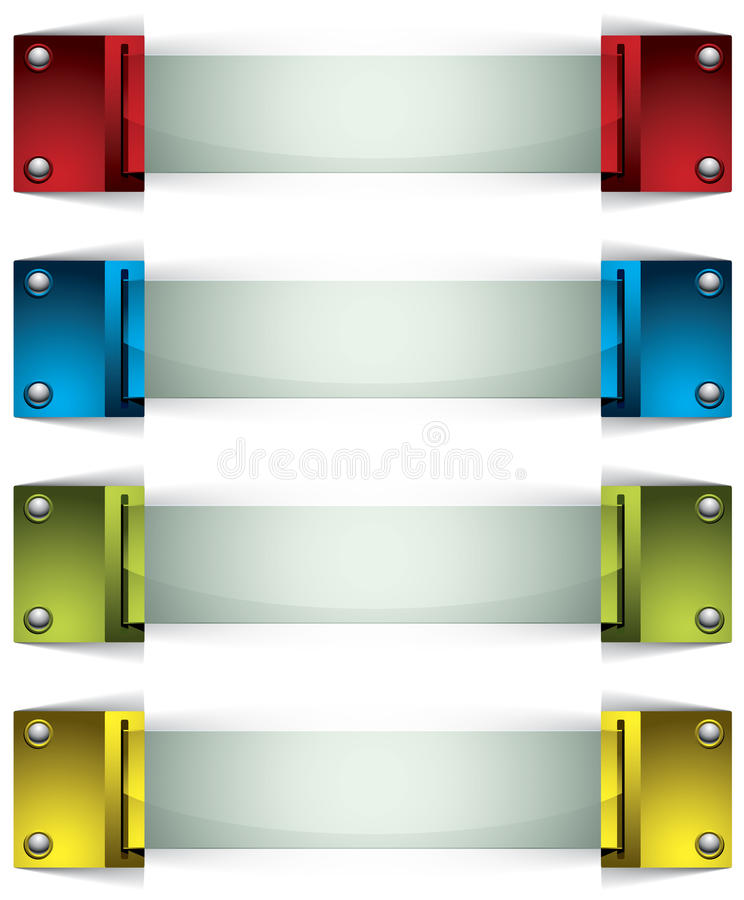 Download 3d Banners With Buttons And Glass. Royalty Free Stock Photography - Image: 25080187