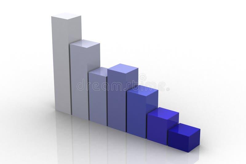 3d Bar Chart vector illustration