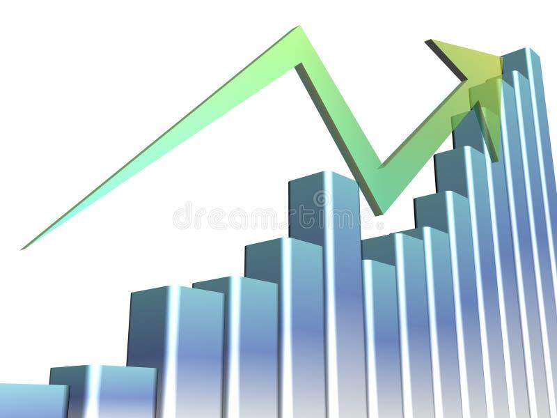 Download A 3D Bar Chart Showing Progress Stock Illustration - Image: 20226138