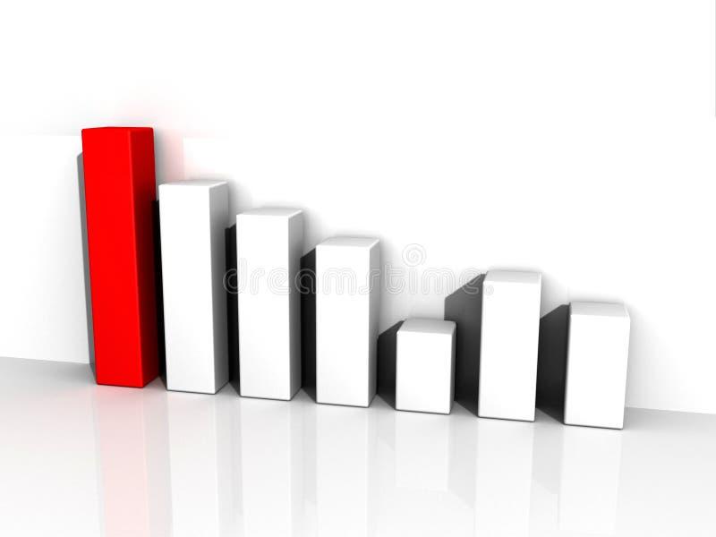 3D Bar Graph. A 3D rendered bar graph showing increasing profits vector illustration