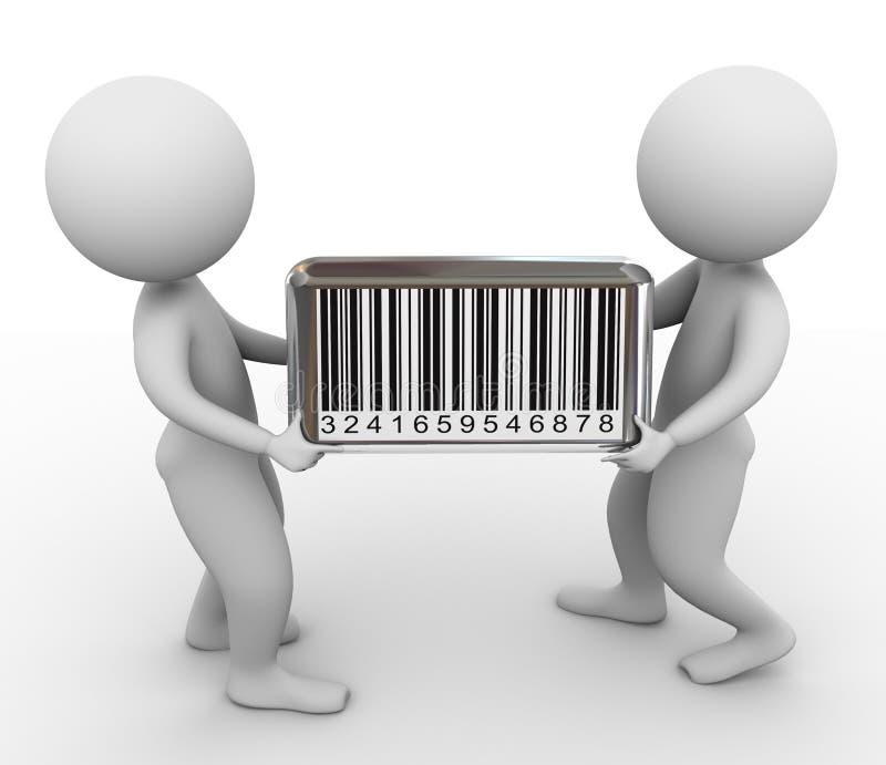 3d barcode mężczyzna ilustracji