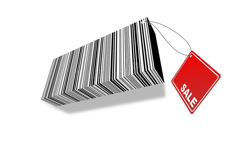 Download 3d barcode with Sale label stock illustration. Image of packaging - 2313392