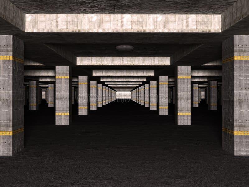 3D basement car park royalty free stock image
