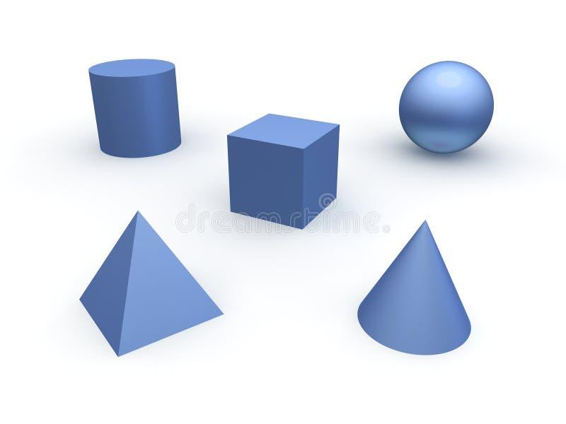 3d basic objects vector illustration
