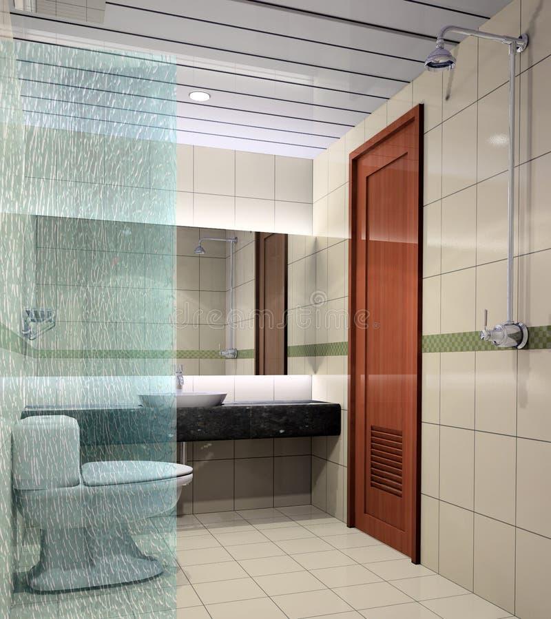 3d bathroom stock illustration