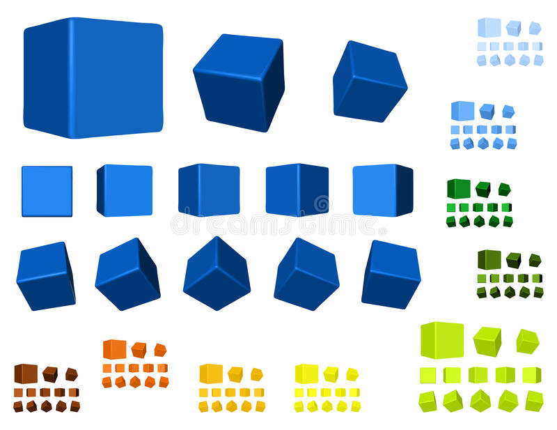 3d berechnet der Farbenvariante vektor abbildung