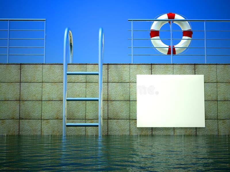 3d billboardu pusty życia pierścionek ilustracji