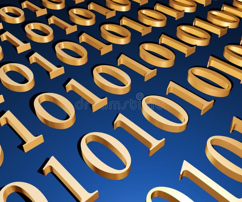 3d binair bereik stock illustratie