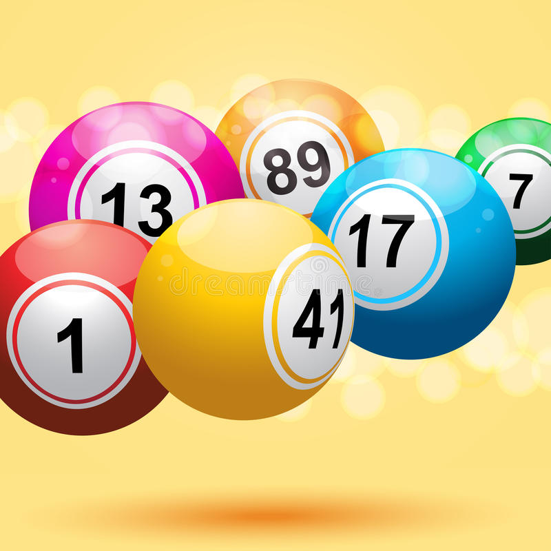 Download 3d bingo ball background stock vector. Image of number - 19623804
