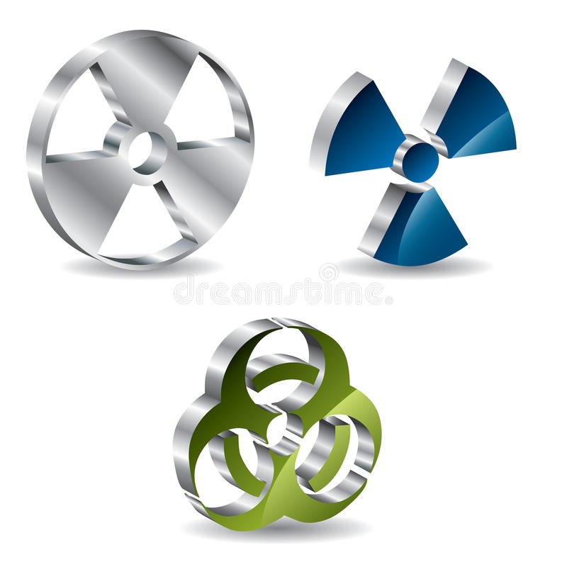 Free 3d Bio Hazard Buttons Royalty Free Stock Images - 12983839