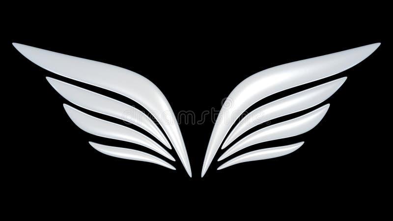 Download 3d bird wing symbol stock illustration. Image of mark - 9158866