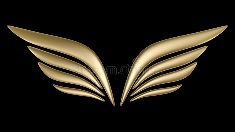 Download 3d bird wing symbol stock illustration. Image of isolated - 9158868