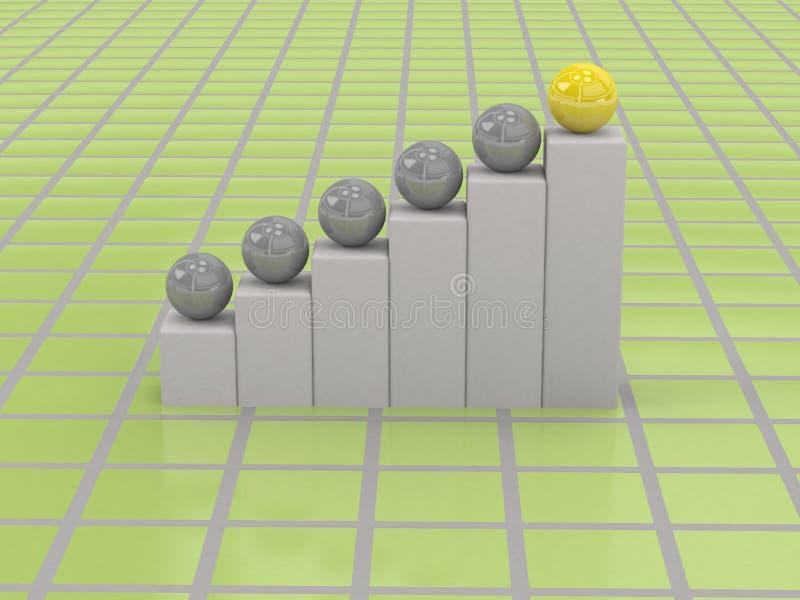 Download 3d biznesowy wykres ilustracji. Ilustracja złożonej z prezentacja - 13334032