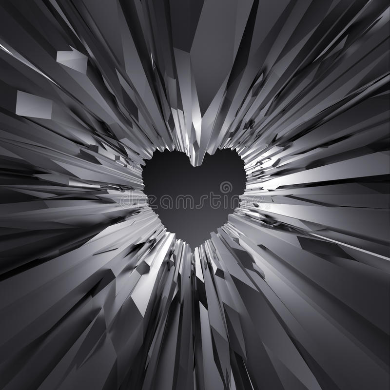 Free 3d Black Crystal Heart Background, Crystallized Object, Abstract Stock Photos - 58979673