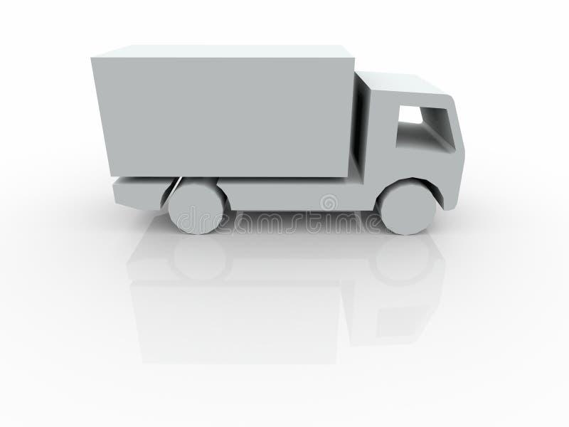 3D blanc Van illustration stock